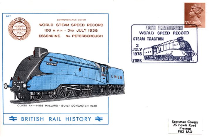 World Steam Speed Record, Class A4 - 4468 Mallard