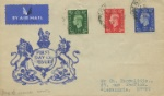 KEVIII: 1/2d, 1 1/2d, 2 1/2d King George VI first definitives