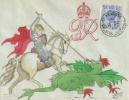KGVI: 4d Light Ultramarine St George and the Dragon