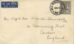 Envelope addressed to Winston Churchill From Australia