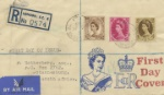 Wildings: 5d, 8d, 1s The first stamps to feature Queen Elizabeth