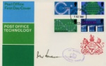 Post Office Technology, Post Office FDC Autographed By: John Stonehouse (Postmaster General)