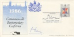 Parliament 1986, Commonwealth Parl. Conference Autographed By: Sir Alec Douglas Home (Prime Minister)