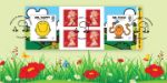 Self Adhesive: Mr Men & Little Miss Flowers in Meadow
