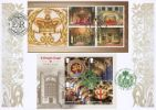 15.02.2017 Windsor Castle: Miniature Sheet Buckingham Palace & Windsor Castle Bradbury
