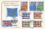 Brexit Double-Dated Cover EEC and Elections Stamps plus Brexit