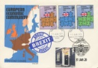 Brexit Double-Dated Cover Europe Map EEC