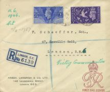 11.06.1946 Victory Plain cover with cachet