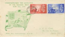10.05.1948 Channel Islands Liberation Union Flag & Jersey Arms