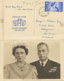 26.04.1948 Silver Wedding 1948 The King and Queen
