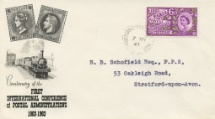 07.05.1963 Paris Postal Conference French stamps & Train BPA & PTS