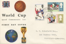 01.06.1966 World Cup Football Globe and Jules Rimet Cup Connoisseur