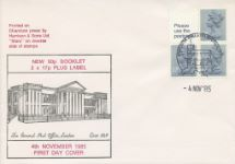 04.11.1985 Vending: New Design: 50p Pillar Box (1p Discount) The General Post Office London Historic Relics