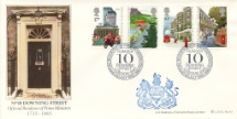 30.07.1985 The Royal Mail 250th Anniversary of No. 10 Downing Street Bradbury, LFDC No.43
