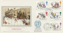 09.11.1993 Christmas 1993 The Coach has Arrived Pres. Philatelic Services, Sotheby Silk No.91