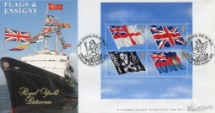 22.10.2001 Flags & Ensigns: Miniature Sheet Royal Yacht Britannia Bradbury, Windsor No.11
