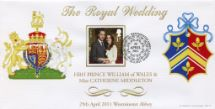 29.04.2011 Wedding Day Cover No. 4 The Coat of Arms of the Bride and Groom Bradbury, BFDC No.131