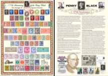06.05.2015 Penny Black: Miniature Sheet The Stamps of Queen Victoria Bradbury, Commemorative Stamp Card No.3