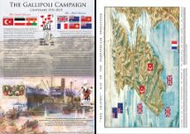 14.05.2015 The Great War The Gallipoli Campaign Bradbury, Commemorative Stamp Card No.10