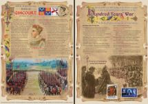 25.10.2015 Battle of Agincourt 600th Anniversary Bradbury, Commemorative Stamp Card No.14