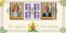 09.06.2016 Self Adhesive: H M The Queen's 90th Birthday 2 Prince George & Prince William Bradbury, BFDC No.383