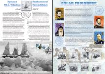 07.01.2016 Shackleton and the Endurance Expedition British Explorers Bradbury, Commemorative Stamp Card No.19