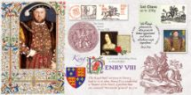 17.02.2016 Royal Mail Heritage Henry VIII founded the Royal Mail Bradbury, BFDC No.357