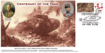 15.09.2016 Centenary of the Tank Tank in Somme Village Bradbury, BFDC No.402
