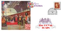 13.06.2017 First Monarch to Travel by Train Queen Victoria Bradbury, BFDC No.445