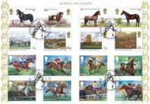 06.04.2017 Racehorse Legends Horses on Stamps Bradbury