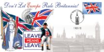 01.11.2018 Brexit Leave Means Leave Bradbury, BFDC No.534