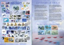 20.03.2018 RAF Centenary History of Aircraft on British Stampms Bradbury, Commemorative Stamp Card No.35