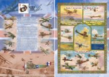 13.09.2018 The Great War History of the Royal Flying Corps Bradbury, Commemorative Stamp Card No.40