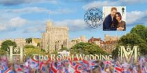 19.05.2018 Royal Wedding: Miniature Sheet Harry and Meghan Windsor Castle Bradbury, BFDC No.496