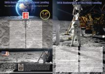 21.07.2019 One small step for man.... .....one giant leap for mankind Bradbury, Commemorative Stamp Card No.45