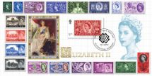 15.01.2019 Stamp Classics: Miniature Sheet Classic Queen Elizabeth Stamps Bradbury, BFDC No.551