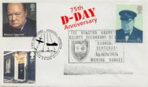 06.06.2019 D-Day Churchill Centenary Double Dated cover