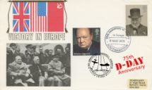 06.06.2019 D-Day VE Day and DDay double postmarked Rembrandt