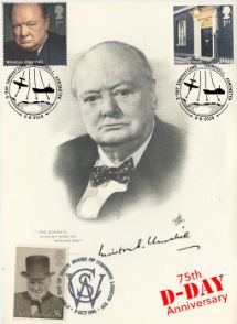 06.06.2019 D-Day Portrait of Churchill Artcraft