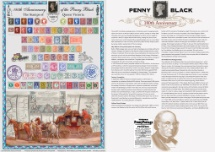 10.03.2020 Self Adhesive: London 2020 180th Anniversary of the Penny Black Bradbury, Commemorative Stamp Card No.50