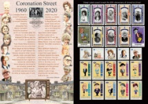 28.05.2020 Coronation Street Who was who in 1960 Bradbury, Commemorative Stamp Card No.54