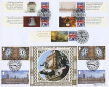 30.07.2020 Palace of Westminster Big Ben Double Dated Cover Bradbury