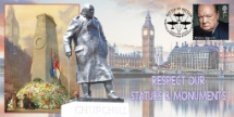 28.05.2020 Respect our Statues & Monuments Churchill, Parliament and Cenotaph Bradbury, BFDC No.686