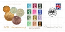 01.01.2021 Decimalisatioin First Decimal Coins and Stamps Bradbury, BFDC No.733
