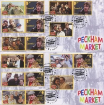16.02.2021 Only Fools and Horses: Generic Sheet Peckham Market pair Bradbury, BFDC No.739