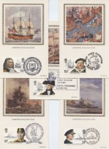 16.06.1982 Maritime Heritage Set of 5 Postcards Benham