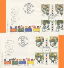 11.07.1979 Year of the Child Traffic Light Gutter Pairs Royal Mail/Post Office