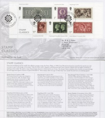 15.01.2019 Stamp Classics: Miniature Sheet Seahorses background Royal Mail/Post Office