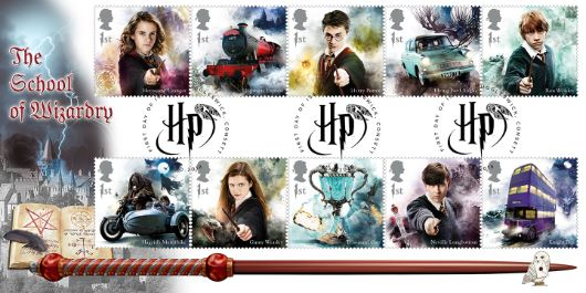This new set of stamps feature favourite Harry Potter stars and their transport