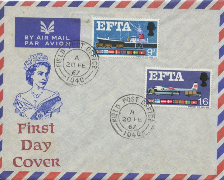 European Free Trade Area, Forces Post Office Airmail